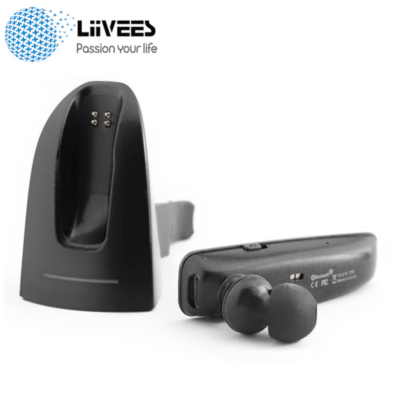 R6100 Wireless Bluetooth Business Earphone in-ear Stereo Earbuds With Mic Support Car Charger Headset for Phone 2 in 1 handsfree portable wireless bluetooth earphone handsfree mini headset stereo earbuds usb dock car phone charger 2 in 1 for phone s0n46 t78