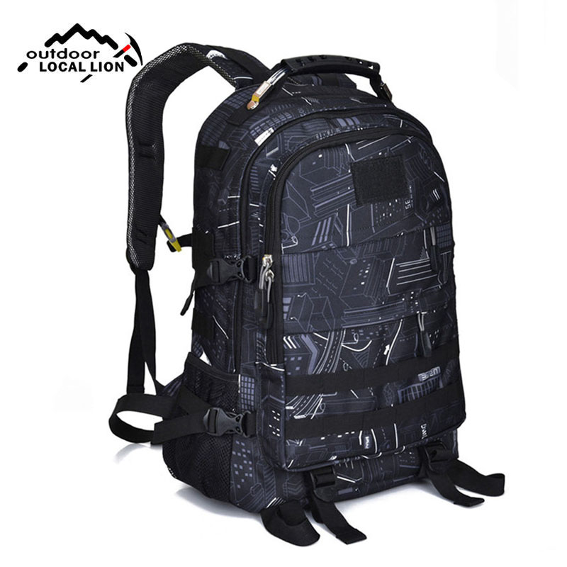 35L Military Backpack Tactical Hiking Backpacks Camouflage Rucksack Molle Waterproof Mountaineering Camping Sports Bags XA223WA new arrival 38l military tactical backpack 500d molle rucksacks outdoor sport camping trekking bag backpacks cl5 0070