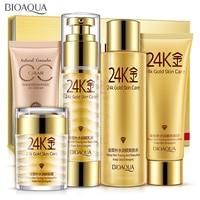 Bioaqua 24K Gold Makeup Moisturizing whitening Cream Lotion Facial Face Day Cream Skin Care Cosmetic Set