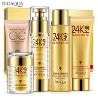 Bioaqua 24K Gold Makeup Moisturizing whitening Cream Lotion Facial Face Day Cream Skin Care Cosmetic Set