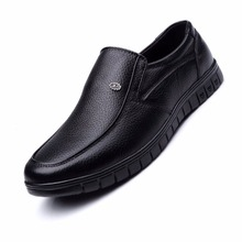 2016 Caballeros Zapatos de Los Hombres de Cuero Genuino Pisos Oxfords zapatos hombres de Negocios de Cuero Zapatos Masculinos Hombres Padre Hombres Zapatos 826-825