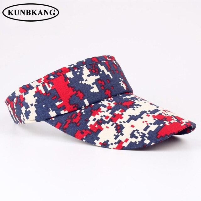 b0655219244 2017 High Quality Camouflage Visor Hat Casual Army Baseball Cap Men Women  Outdoor Sports Sun Visor