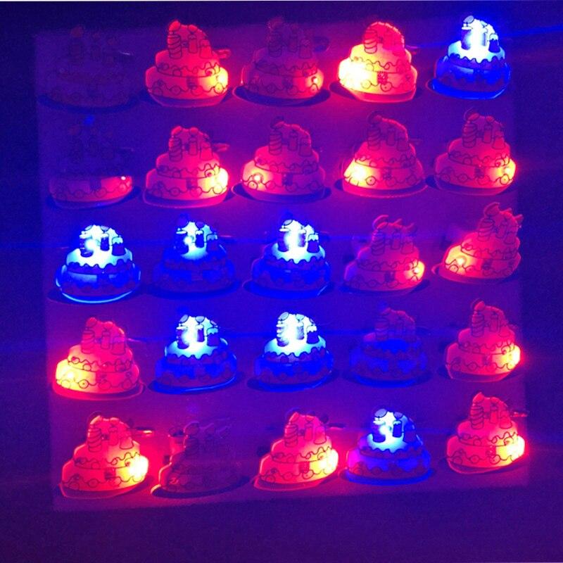 Awe Inspiring Glow Light Up Luminous Flash Child Led Toy Birthday Cake Brooch Funny Birthday Cards Online Eattedamsfinfo
