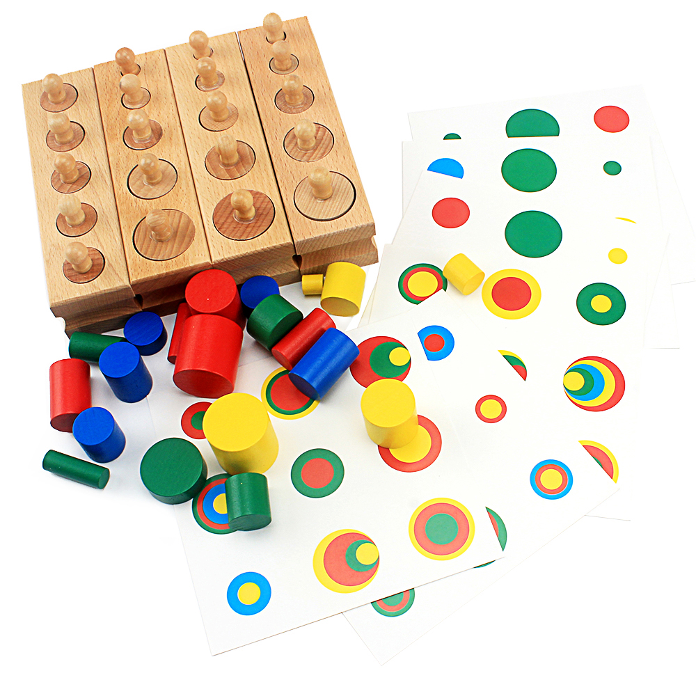 Baby Montessori Educational Wooden Toys Colorful Socket ...