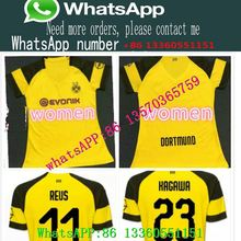 Borussia Dortmund woman soccer jersey 18 19 reus BATSHUAYI KAGAWA SANCHO M  football uniform shirts top f258b7b34