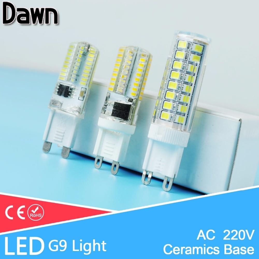 Lampada LED Bulb 12w=New Ceramic Bombillas LED Lamp 7w=Dimmable 9W G9 SMD 2835 3014 220V 240V Silicone Ampoule Lampara Bombilla mr16 led didoe lamps 5w 7w 9w gu10 led spotlight bulb 110v 220v 60 70 80 leds smd 2835 smart ic ampoule led dimmable bombillas