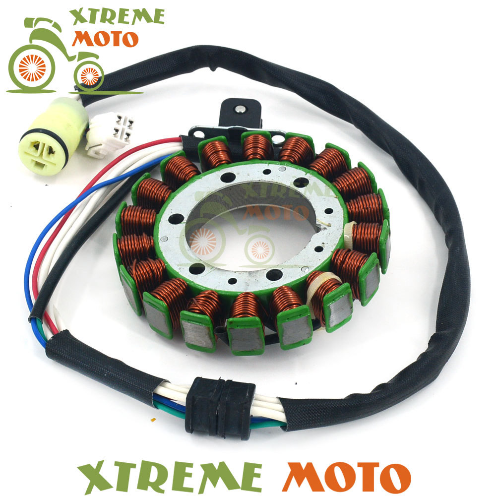 Motorcycle Magneto Engine Stator Generator Charging Coil Copper Wires For Yamaha ATV Warrior 350 YFM350 2002 2003 2004 2005