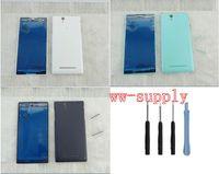 SZHAIYU Volle Gehäuse Frontrahmen Chassis + Zurück Batterieabdeckung fall für Sony Xperia C3 S55U D2502 D2503 D2533 + Kits