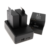4pcs 3 7V 900mAh Li Ion Rechargeable Battery 2 Slots 100V 240V Charger With USB Cable