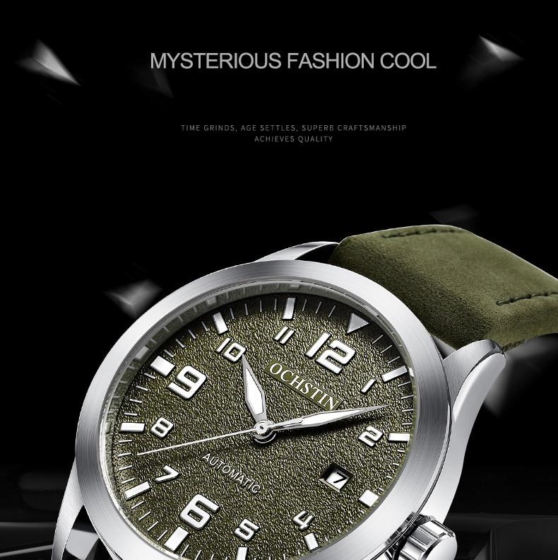 Top Brand OCHSTIN Tourbillon Automatic Watch Men Waterproof Date Sport Men Leather Mechanical Wrist Watch Male Clock Fashion