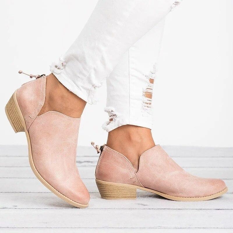 Talon Simple Taille Chaussures Respirant Quotidien apricot buybea Mode pink Printemps Chunky Black 2018 Femmes Confortables Bottes Automne Grande Nouveau A 8gCq4n