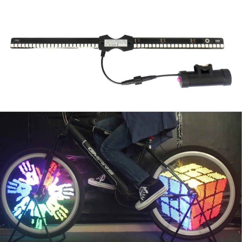 ФОТО Free Shipping YQ8005 96 LED Waterproof Color Changing Bike Wheel Spoke Light Night Riding #gib