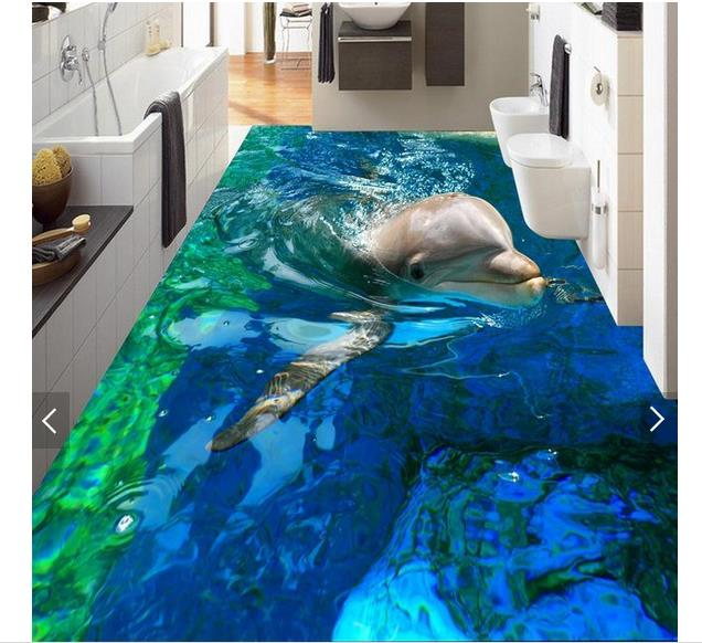3d wallpaper custom 3d flooring painting wallpaper Marine dolphins to draw 3 d picture wall paper 3d living room photo wallpaer