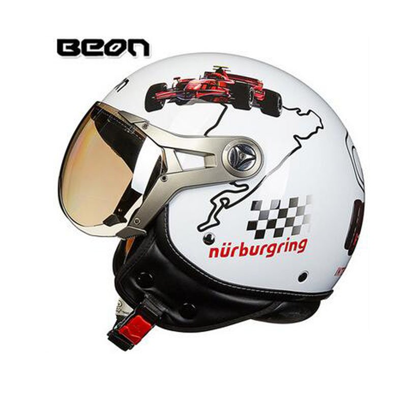 2018 Newest Netherlands authorization BEON Retro Air Force Harley style half face motorcycle helmet B-100 of ABS Matte black cat 2016 newest netherlands authorization beon retro air force harley style half face motorcycle helmet b 100 of abs matte black cat
