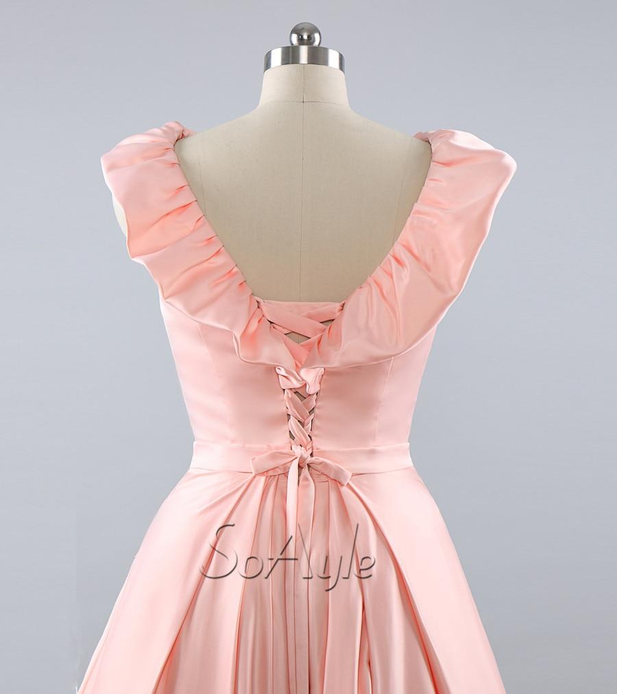 SoAyle A Line Nude Pink Prom Dresses 2016 Vestidos De Baile Vestido ...
