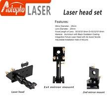 цена на CO2 Laser Head Set / Mirror and Focus Lens Integrative Mount Houlder for Laser Engraving Cutting Machine