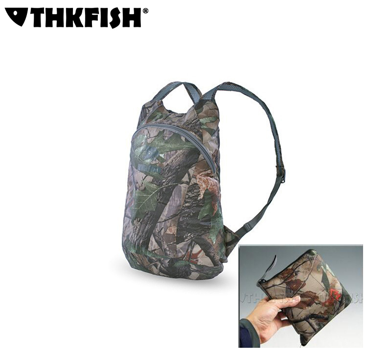 Army Green VIASA Outdoor Waterproof Bionic Camouflage Camo Pattern Folding Backpack Shoulder Bag