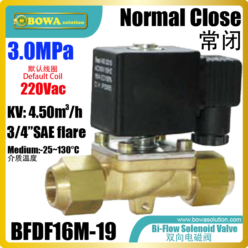 Bi-flow 3/4 solenoid valve is mainly installed in hot water & cold water integrated machines to reduce assemblying costsBi-flow 3/4 solenoid valve is mainly installed in hot water & cold water integrated machines to reduce assemblying costs