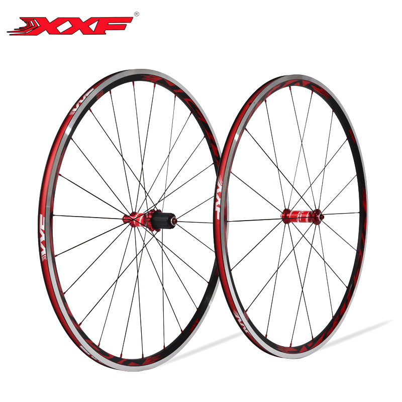 XXF 700C Road bike wheels Aluminum 18H/24H Holes Wheelset Ultralight Wheels With Titanium Quick Release NIGHT JAR Racing bike racing wheels h 480 7 0 r16 4x114 3 et40 0 d67 1