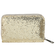 2016 Hot New Women Wallets Bling Powder Shiny Short Wallet Adorable Card Holder Cute Purse Luxury Glitter Flip Wallet 500648