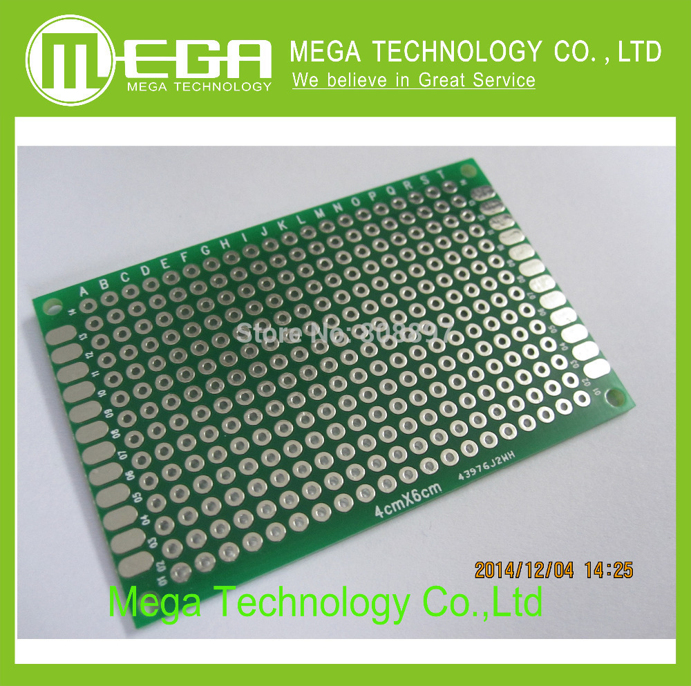 Free Shipping 100pcs Double Side Prototype Pcb Diy Universal Printed Board Electronic Circuit 4x6cm Hot Sale