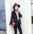 2016 Corea Moda Coreana Simple Cruzado de Dos Piezas Delgado Chica señora de la oficina de gama alta elegante línea recta Traje de moda