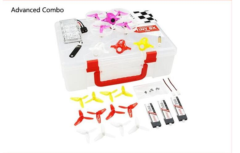 KINGKONG / LDARC TINY 8X 85mm RC Micro FPV Racing Quadcopter Kit With Receiver Advanced Version kingkong ldarc tiny 8x tiny8x kit 85mm