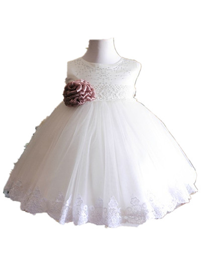 BABY WOW White Baby Clothes Girls Dress for Wedding1 Year Birthday Christening Gowns for New Born