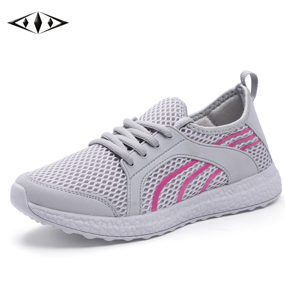 LEMAI New Leisure Women Running Shoes Autumn Spring Breathable Air Mesh Sneakers For Female Super Light Outdoor Sport FB021-1