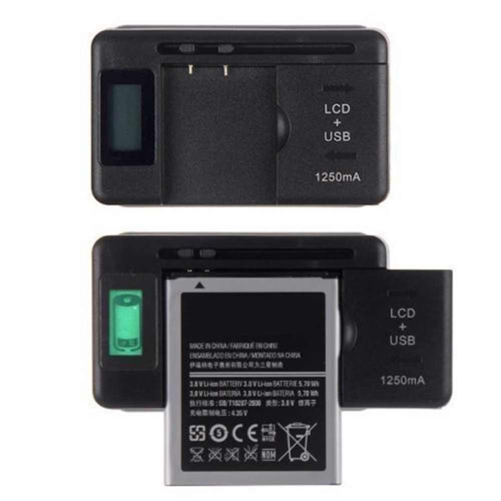 Universal Mobile Battery Charger LCD Indicator Screen For Cell Phones With USB-Port Charger For Most Lithium-Ion Batteries
