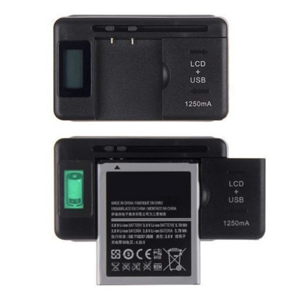 Universal Mobile Battery Charger LCD Indicator Screen For