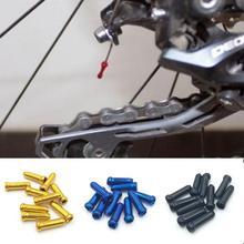 10 шт./партия MTB Горный шоссейный велосипед велосипедный алюминиевый тормозной кабель наконечники обжим велосипедный переключатель