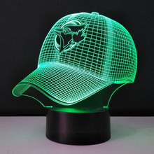 ac1dde08f2b ACBBGS Baseball cap 3D Illusion LED Night light Color changing Table Lamp  Bedroom
