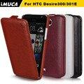 Бренд IMUCA Роскошный Мобильный Телефон Случаях Для HTC Desire 300 Флип кожаный Чехол Для HTC Desire 300 301e Зара мини Защитный Чехол