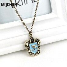 MQCHUN Wholesale Harrys Retro Necklace Slythrin Gryffindor Ravenclaw Hufflepuff School Badge Pendant Necklace for Fans-30