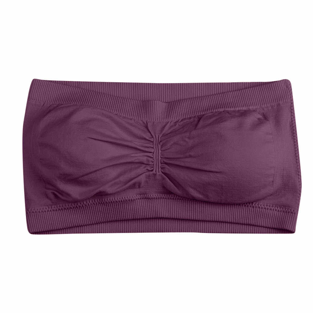 Women's Tube Top Bra Seamless Cropped Tube Top Shoulder Pregnant Women Belt Cloth Basic Layered Pregnancy#G7