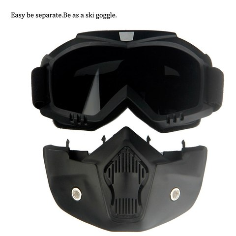 Queshark Ski Snowboard Mask Winter Ski Snowmobile Goggles Windproof Skiing Glasses Cycling Sunglasses With Mouth Filter Multan