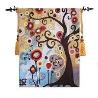 Boutique België wandtapijt  de boom van het leven  abstract schilderij  de boom in Juni  moderne wandtapijten  68*90 cm/110*140 cm  NY001-in Tapijt van Huis & Tuin op