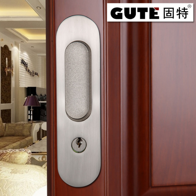 GUTE Generic 160mm Bathroom Shift Locks Wood Sliding Door Dedicated Hook Lock  Balcony Sliding Door Lock