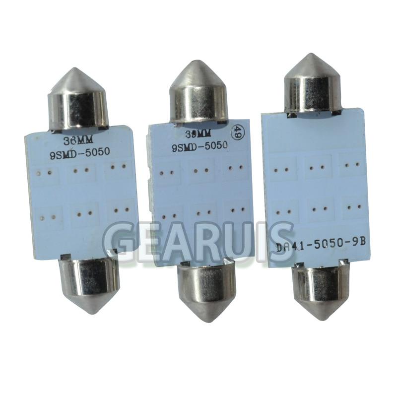 100 шт./лот автомобильные C5w Festoon Dome свет 36 мм/39 мм/41 мм 9SMD 9 SMD 5050 светодиодный 9SMD лампа для чтения номерной знак багажный фонарь 12 V