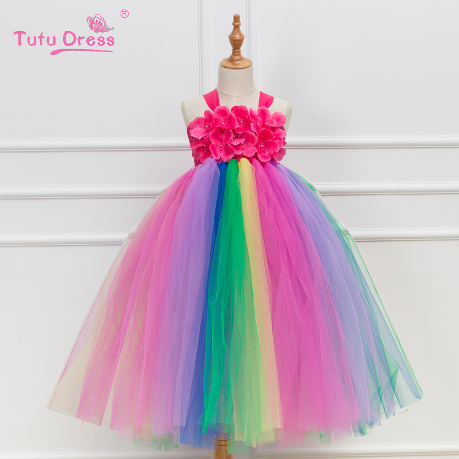 Fancy Baby Girl Tutu Dress Christmas Halloween Costume Girls Party Dresses Princess Girls Ball Gown Boutique Dresses fancy girl mermai ariel dress pink princess tutu dress baby girl birthday party tulle dresses kids cosplay halloween costume