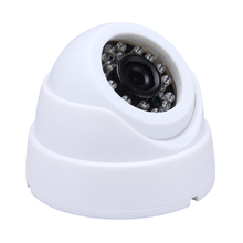 HAMROL CCTV Camera 1/3″ Color CMOS  Real 700TVL High Resolution  24 LED Nightvison Indoor Dome Camera  Analog Security Camera
