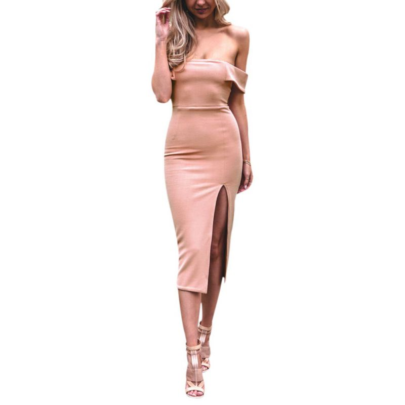 New 2018 Women Summer Dress Strapless Off Shoulder Sexy Ladies Wrapped Chest Women Club Party Bodycon Dress vestido H8