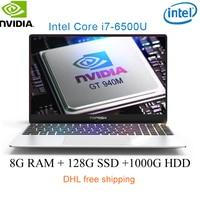 P10 Laptop laser custom logo 15.6 Intel i7 6500U 8G RAM 128/256/512G SSD NvIDIA GeForce 940M 2G computer with Backlit keyboard