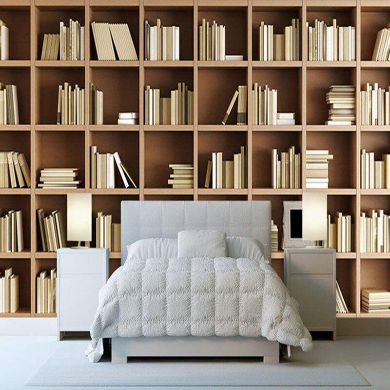 Aliexpress.com : Fototapete Benutzerdefinierte 3D Stereo Bücherregal  Hintergrund Wandbild Moderne Einfache Bibliothek Wohnzimmer Schlafzimmer ...
