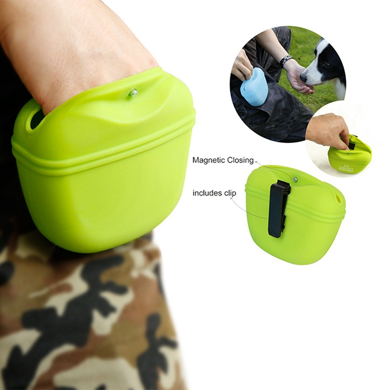 Pets Dog Silicone Treat Bag Pocket Food Snack Pouch Haversack Waist Bag for Outdoor Pet Training Bags in Other Dog Training Aids from Home Garden