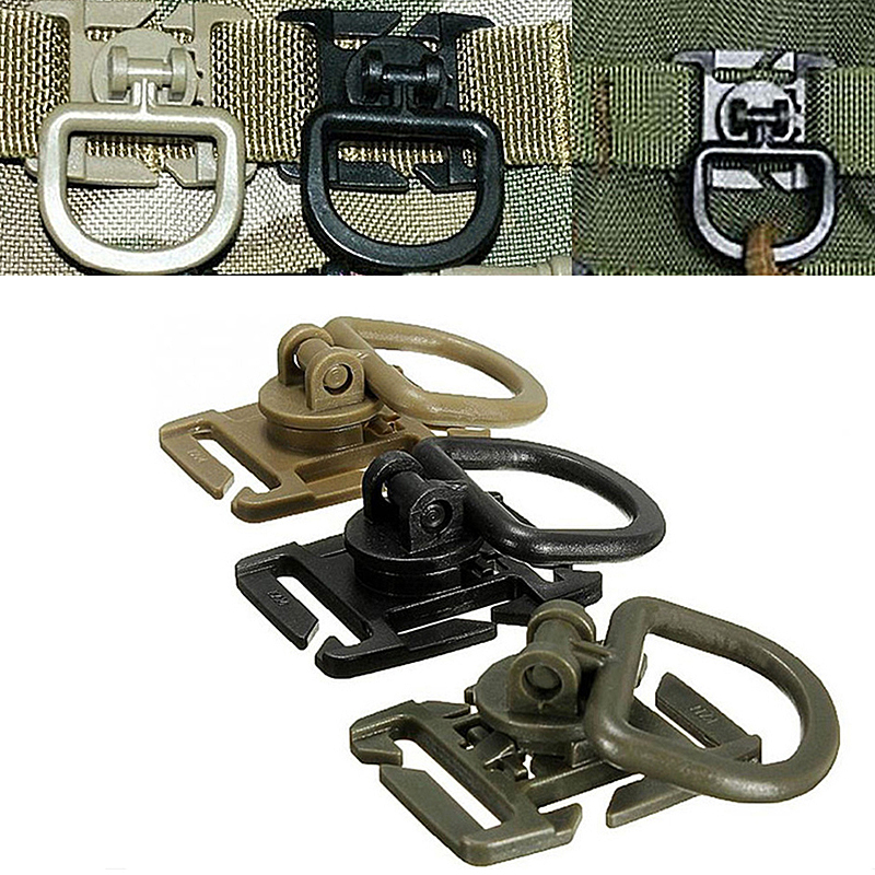 5Pcs Clip Buckle Rotatable D-ring Clips Buckle Backpack Locking Tool Bag Accessory Carabiner