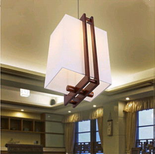 ФОТО Chinese style creative simple coffee wood art Pendant Lights Individuality  fashion E27 lamp for stairs&pavilion&vestibule MF008
