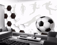купить Beibehang Custom any size wall paper sports soccer large mural wallpaper 3 d living room 3d wallpaper papel de parede wallpaper по цене 576.41 рублей
