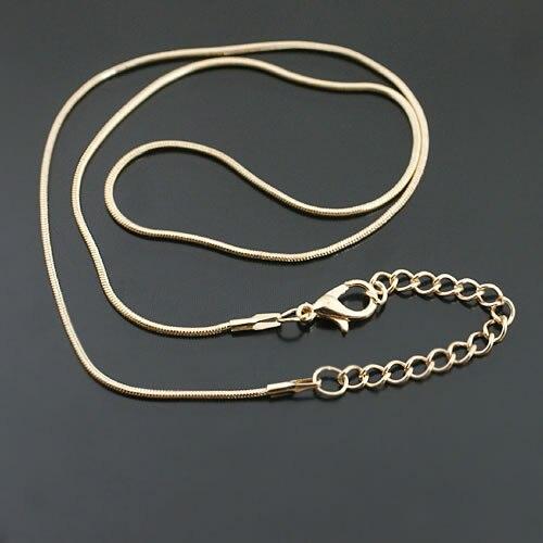 """Bronze Or Argent Plaque 6PCS 1.5 mm Laiton Chaîne serpent Colliers 18/"""" 20/"""" 22/"""""""